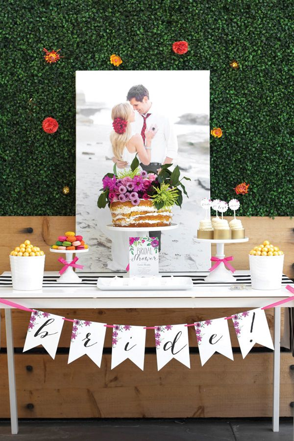 Beautiful floral bridal shower table