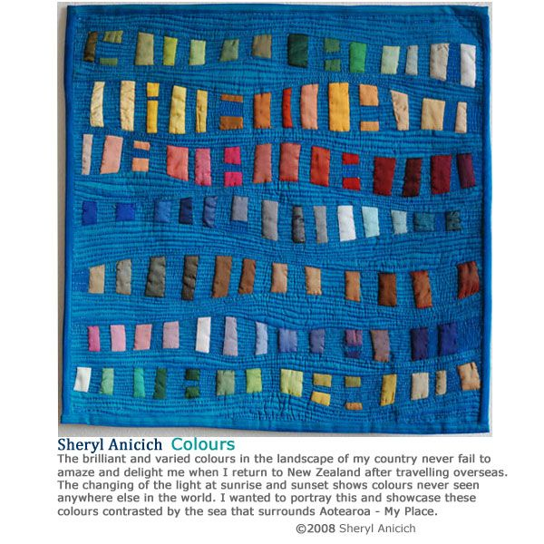 quilt by Sheryl Anicich beautiful use of Color!