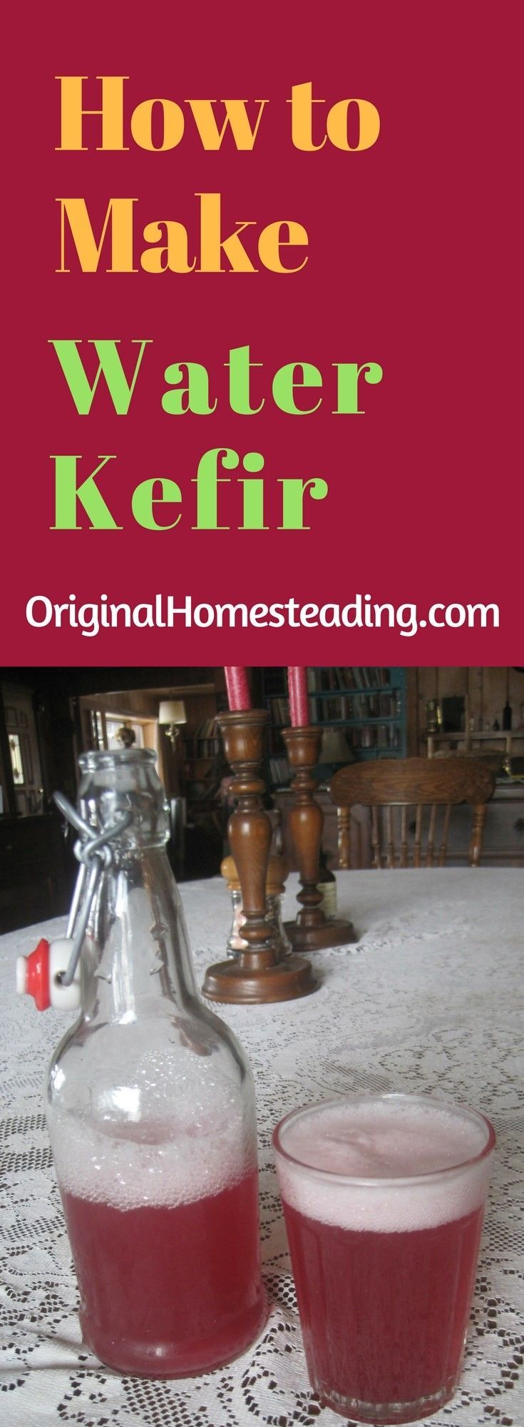 Learn to Make Your Own Water Kefir!!! This probiotic rich drink is so easy to make. By making your own, you can drink it everyday for overall Healthy Benefits!!!