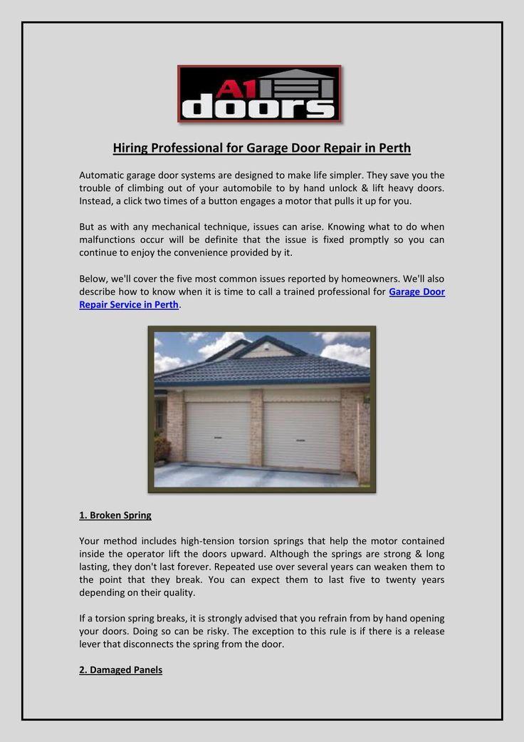 33 Best Garage Door Repair Replacement Services In Perth A1 Doors