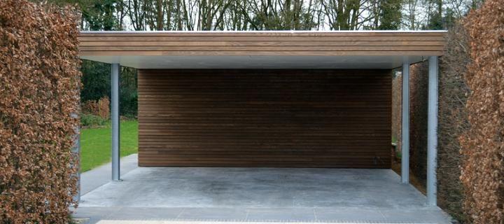 Moderne carports in hout livinlodge pure idee n voor for Carport 2 posti