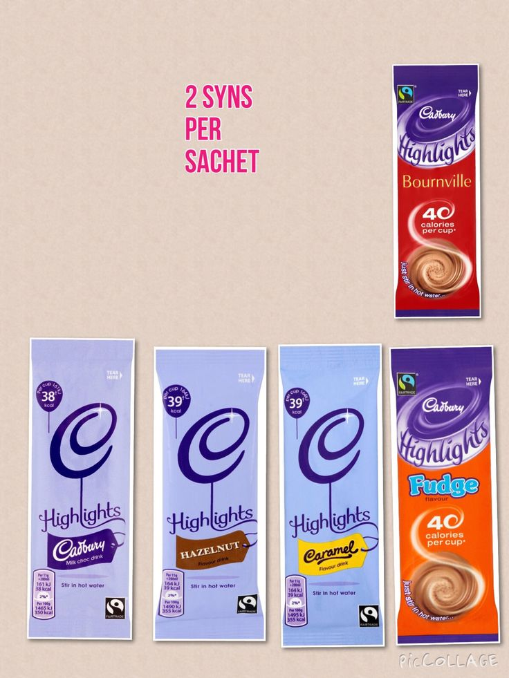 Cadburys Highlights - Syn value on Slimming World                                                                                                                                                                                 More