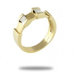 0.22 CT. T.W. Diamond Ring In 14k Yellow Gold