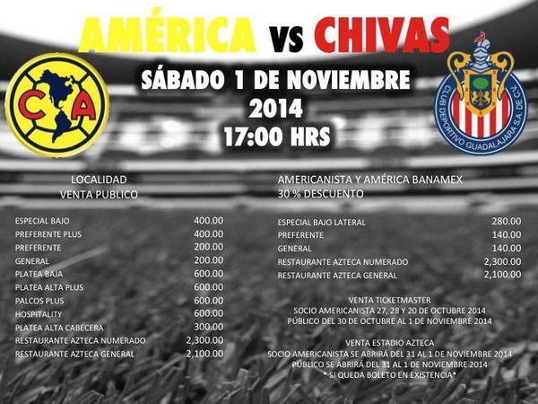 LISTOS LOS PRECIOS PARA EL CHIVAS VS AMÉRICA || El Estadio Azteca publicó en redes sociales los costos de las entradas para el próximo clásico nacional, los precios van desde los 200 hasta los 2 mil 300 pesos.