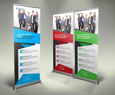 corporate rollup banner template market