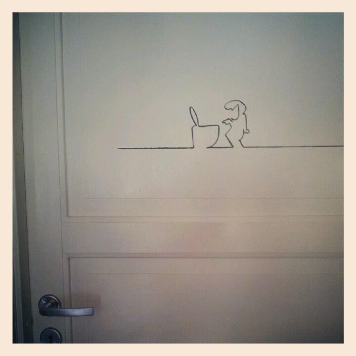 På baddøra
