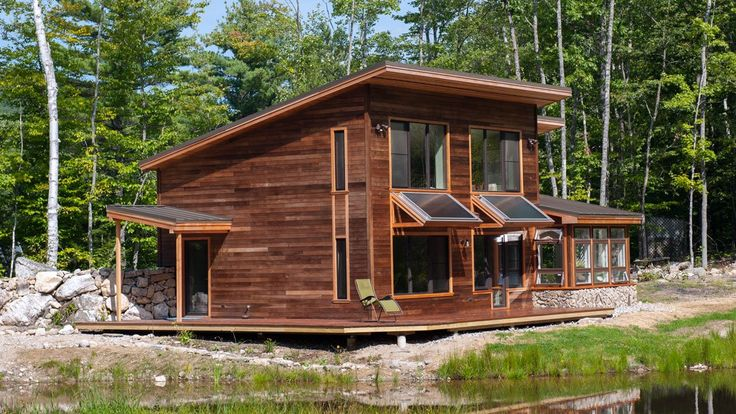 This beauty uses passive solar and solar power to make an energy-efficient house par excellence.