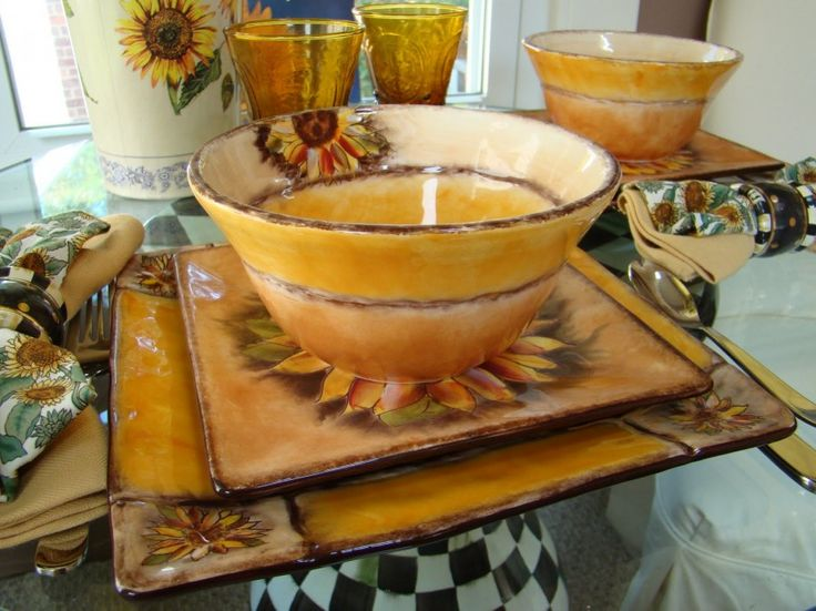 Beautiful Sunflower Kitchen Design Idea Glossy Ceramic Sunflower Cup Modern Sunflower Kitchen
