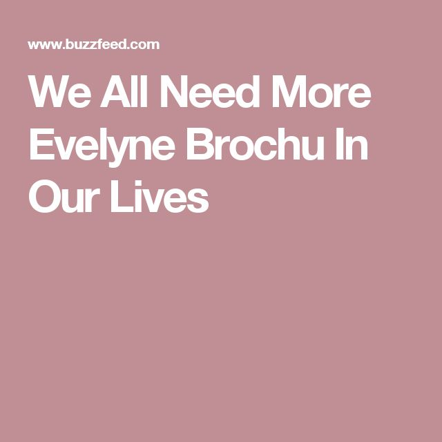 We All Need More Evelyne Brochu In Our Lives