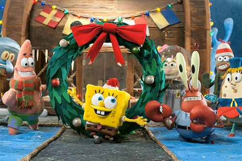 SpongeBob Christmas Stop-Motion  - http://animated-review.blogspot.co.uk/2012/06/spongebob-christmas-stop-motion.html