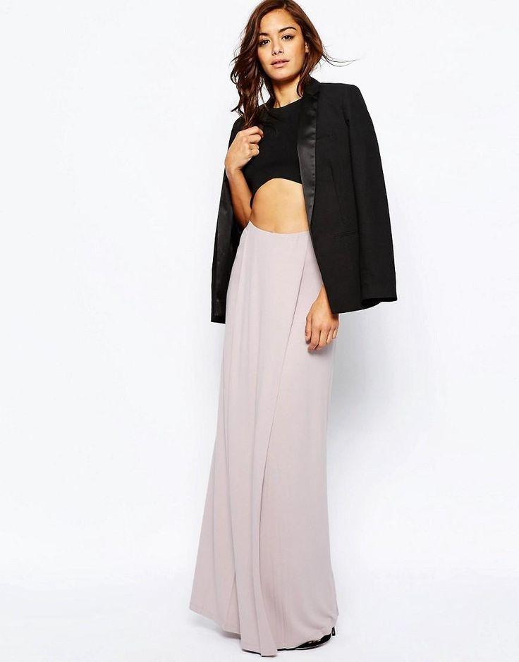 ASOS | ASOS Maxi Skirt with Front Layer Panel at ASOS