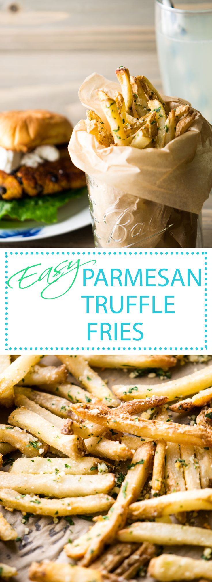 Restaurant Style Truffle Fries with Fresh Parmesan & Parsley