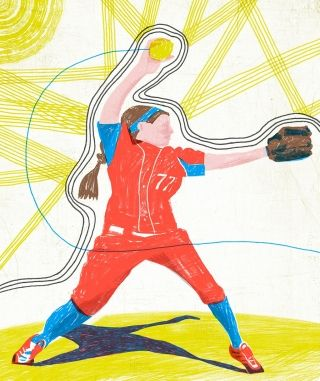 """""""Melanoma is rare for people in their 20s, but playing outdoor sports increases the risk."""" Illustration by Jeffrey Decoster"""