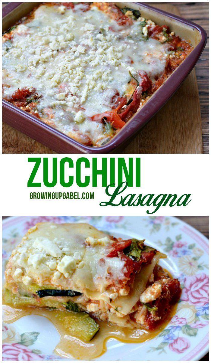 Op zoek naar een gezonde lasagne recept?  Maak een makkelijk groente lasagne met courgette noedels.