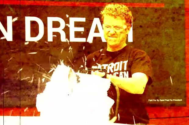 The taxes chainsaw massacre: Rand Paul is desperate for your attention