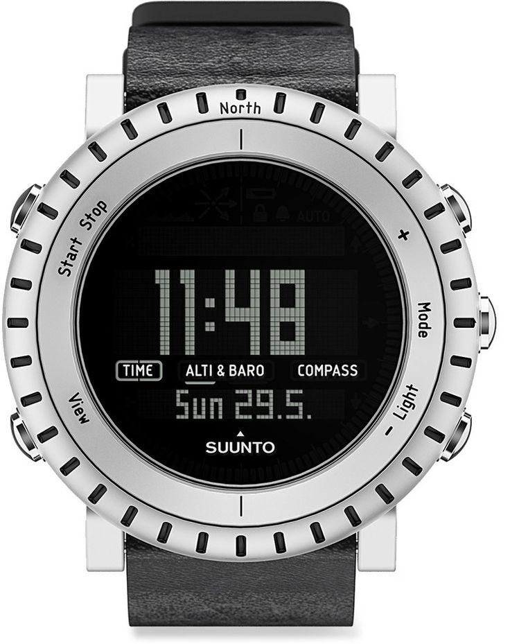 The Suunto Core keeps you informed of conditions while you hike, bike, or camp, making it a terrific companion for outdoor enthusiasts of all stripes. The Core includes an altimeter, barometer, compass, and weather indicator.     Buy it here