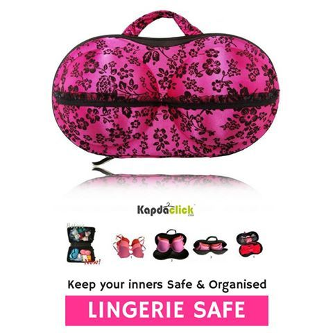 buy Lingerie Storage Case online  These ultra fine lingerie bags are the SECRET to keeping your delicate clothes looking like new and the SAFEST way to clean expensive lingerie, stockings and underwear. Comes in beautiful feminine colors and shades and has High Quality Zipper and separate pouches inside to keep different lingeries seperately.   http://www.kapdaclick.com/category/lingerie-accessories?sort=htl