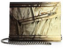 Jimmy Choo Candy Degrade Crinkled Lame Fabric Acrylic Clutch - $1,025.00