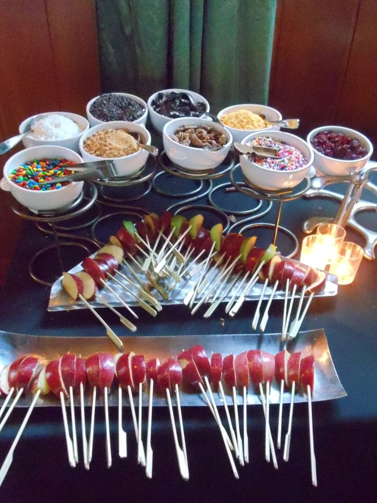 Candy Apple Bar, courtesy of Endive Catering, Atlanta, GA! www.bashatlanta.com…