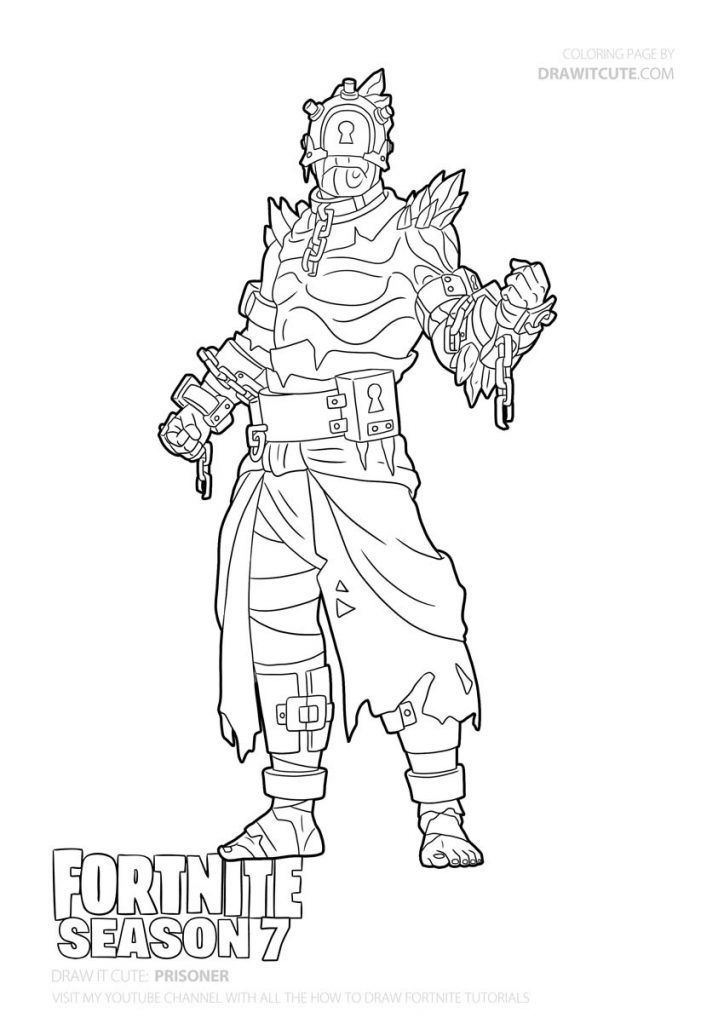 Fortnite Coloring Pages Fade Design
