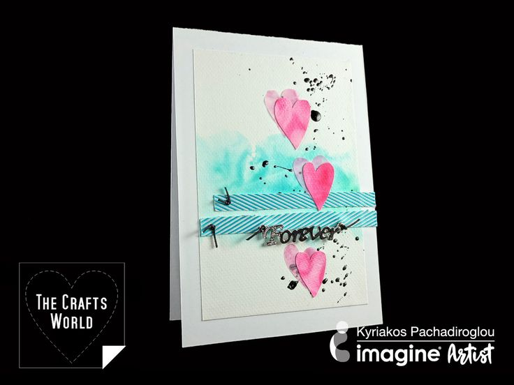 Share some love with a card in bright colors using StazOn ink pads. Use the StazOn all purpose stamp cleaner to dissolve the StazOn inks creating a watercolor effect on paper. The result gives the impression that a water based ink is used, however this technique can make a background that stays while you can …
