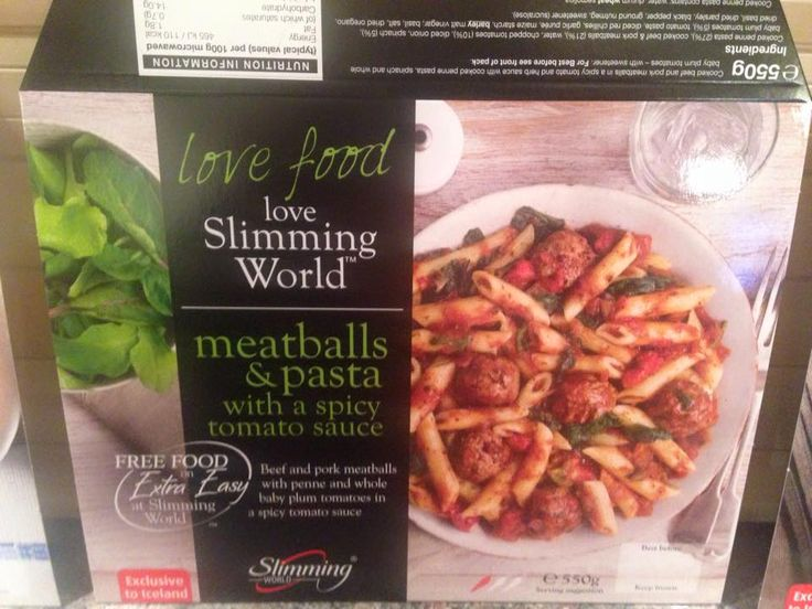 New Slimming World Syn Free Meatballs Pasta With A Spicy Tomato Sauce Only Available From