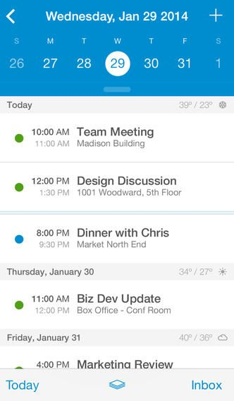 UpTo Calendar - for Google Calendar, iCloud, Exchange and more By Rock City Apps  ios app