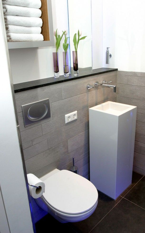 design : lavabo + wc et tablette