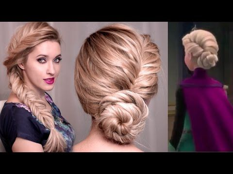 Frozen's Elsa hair turtorial for New Year's eve: UPDO, BRAID and HALF UP hairstyles - YouTube