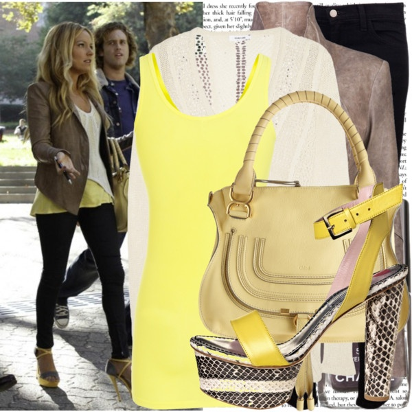 becki newton on the set of 'the goodwin games' - Polyvore