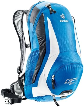 Deuter Race Cycling Back Pack - trampoline back so you don't get hot & sweaty and an in built rain cover so your gear stays dry too.