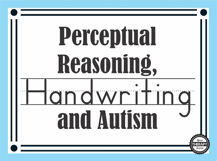 Research indicates that perceptual reasoning skills were significantly predictive of handwriting skills in adolescents with autism spectrum disorder.