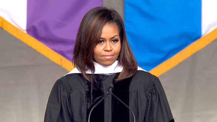 CHILLS! First lady Michelle Obama delivers a commencement address at City College of New York on Friday.