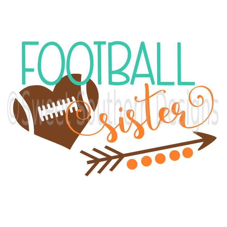Football Sister SVG instant download design for circuit or silhouette by SSDesignsStudio on Etsy https://www.etsy.com/listing/458618136/football-sister-svg-instant-download