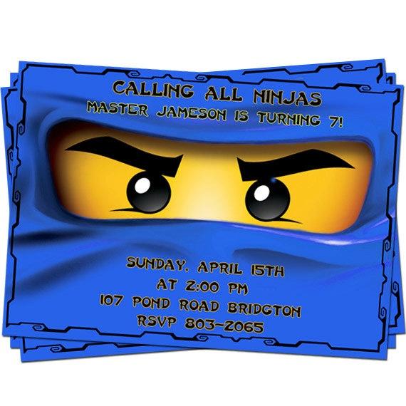 Ninjago Birthday party invitation 2.