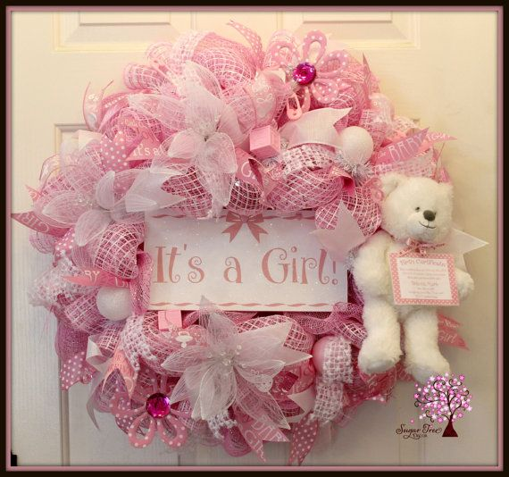 Hey, I found this really awesome Etsy listing at https://www.etsy.com/listing/224415161/its-a-girl-wreath-baby-wreath-baby