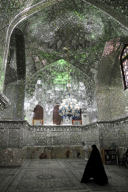 The Shah Cheragh (Persian for King of the Light) Mausoleum is a mirrored masterpiece in Shiraz, Iran.