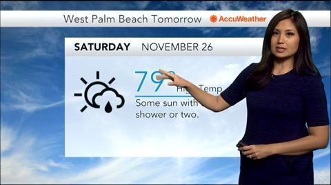 Nov 25, 2016; 5:00 AM ET Five-day Weather Forecast for West Palm Beach, FL