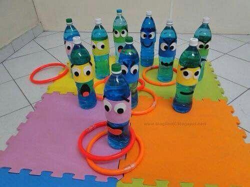 Kuželky z pet lahví