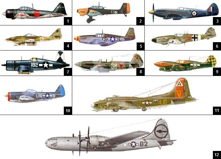 Noted WW2 planes in the illustration Quiz by crispyceme ...