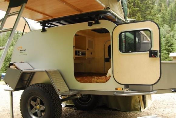 Moby1 offroad teardrop camper - inside