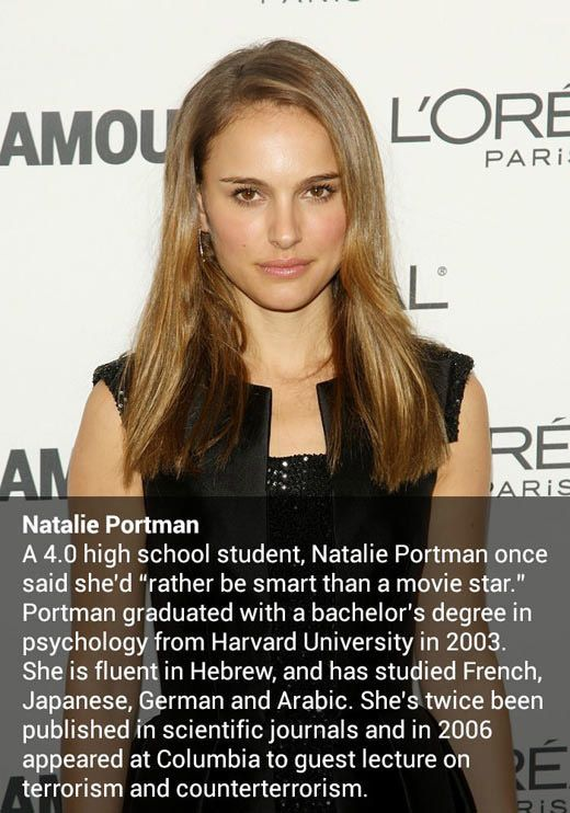 The more you know. Can't help thinking that that is a lot of attention for just a bachelor. She has got to have something else on her resume.