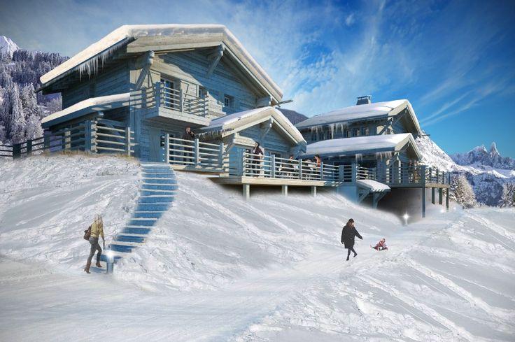 Chalet Vella d'en Bas Architecture Verbier Ski Alps 3D Printing Architecture 3D White Model Render #architecture #projet #chalet #maquette #noiretblanc
