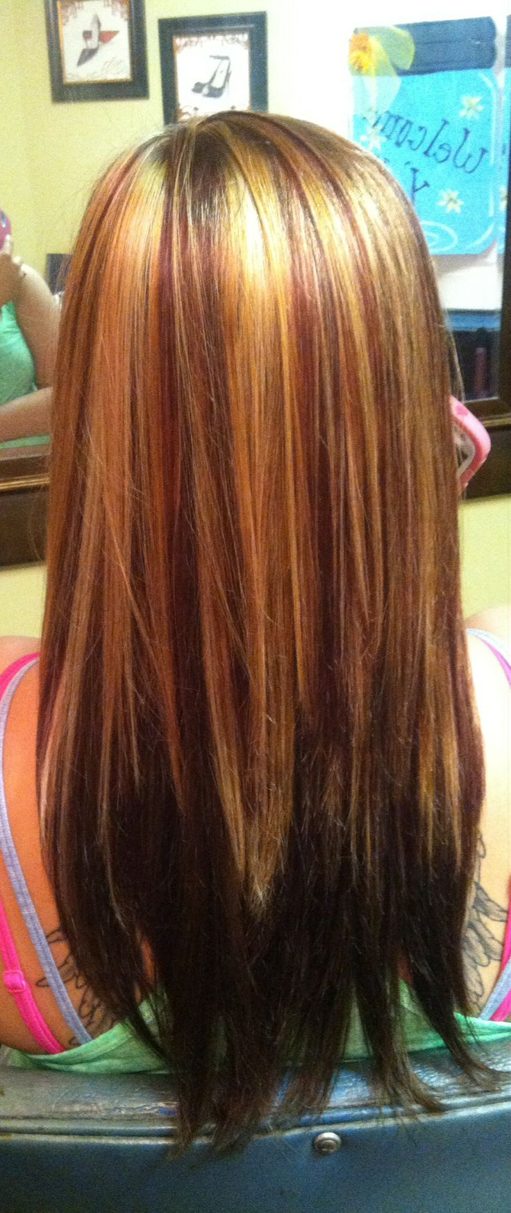 Caramel highlights with red! | Hair | Pinterest
