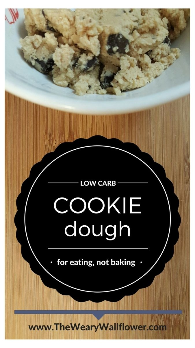 Guilt Free, Low Carb Cookie Dough - just for snacking! Rich and indulgent, kill those cravings for sweets the smart way!