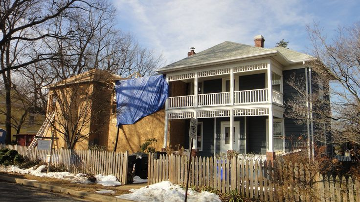 addition to four square homes | two story addition to 1900 four square this 1900 four square house had ...