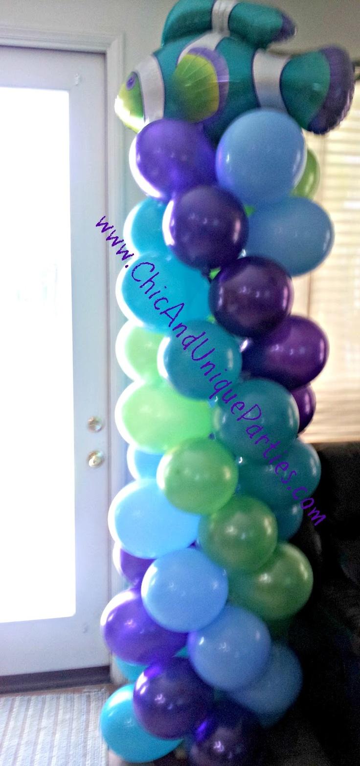 229 best balloon ideas images on pinterest balloon for Balloon arrangement ideas