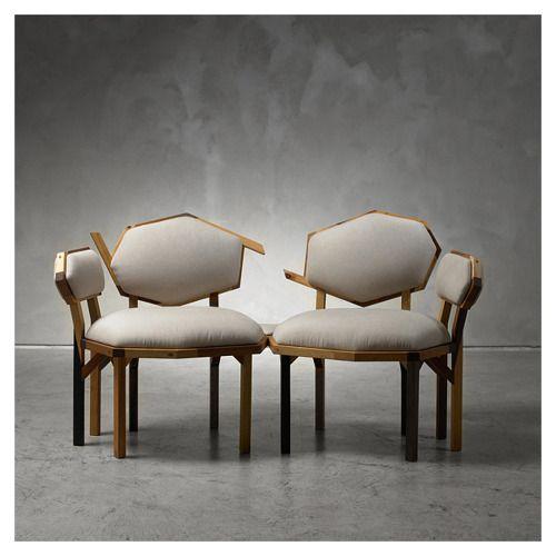 styletaboo:  Martino Gamper - Rita sofa for Nilufar [teak, plywood, walnut, ash, linen upholstery,2010]