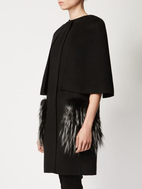 Fendi fox fur pocket coat