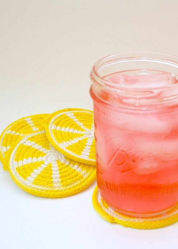 iLoveToCreate Blog: Lemon Slice Rope Coaster DIY